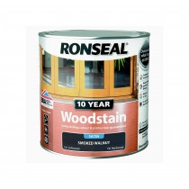 Ronseal 10 Year Woodstain - Smoked Walnut (Satin) 750ml