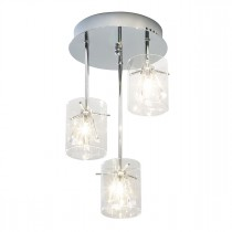 DAR SOM5350 Somerset 3lt Semi Flush Ceiling Light - Polished Chrome