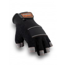 Scruffs Max Performance Fingerless Gloves (T50991) Black/Grey - Size 10