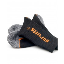 Scruffs Trade Socks (T50984) Black/Grey/Orange - 3 Pack - UK 7-12