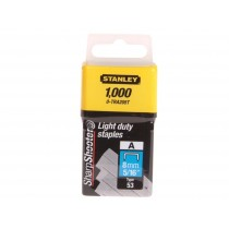 Stanley (0-TRA205T) Light Duty Staples - 8mm - Pack of 1000