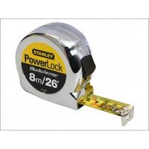 Stanley (0-33-526) Powerlock Rule Black Armor Tape - 8m / 26ft