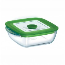 Pyrex Square Dish With Vent Lid - 4in1 PLUS - 16cm