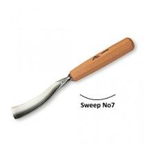 Stubai Bent Carving Gouges No7 Sweep - 20mm