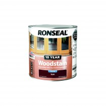 Ronseal 10 Year Woodstain - Teak (Satin) 250ml