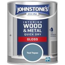 Johnstone's Interior Quick Dry Gloss - Teal Topaz - 750ml