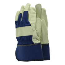 Town & Country Washable Leather Rigger Gloves - Navy - L