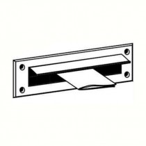 Warmseal (G61201) - Letterbox Draught Excluder With Flap (43mm x 275mm Opening) White