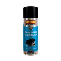 Hycote HYCXUK0121 Gloss Black Engine Enamel Aerosol - 400ml