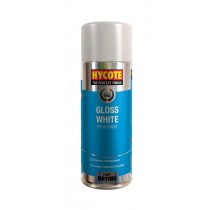 Hycote HYCXUK032 Gloss White Aerosol - 400ml