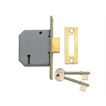 "Yale PM322 3 Lever Mortice Dead Lock - Polished Brass - 67mm (2.5"")"