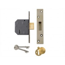 "Yale PM562 Hi-Security BS 5 Lever Mortice Dead Lock - Polish Brass - 80mm (3"")"
