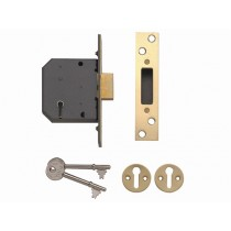 "Yale PM552 5 Lever Mortice Dead Lock - Polished Brass - 67mm (2.5"")"