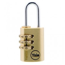 Yale Y150/22/120  3 Dial Combination Padlock - Brass - 22mm