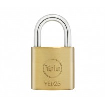 Yale YE1/25/113/1 Standard Shackle Padlock - Brass - 25mm