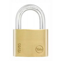 Yale YE1/50/126/1 Open Shackle Padlock - Brass - 50mm