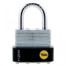 Yale Y125/40/122/1 Laminated Open Shackle Padlock - 40mm