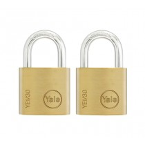 Yale YE1/30/115/2 Open Shackle Padlock - Brass - 30mm - Pack of 2