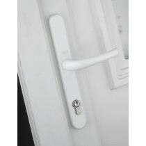 Yale PVCu Universal Replacement Handle - White Finish - 92/Adjustable Fixing Points