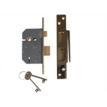 "Yale PM560 Hi-Security BS 5 Lever Mortice Sash Lock - Polish Brass - 80mm (3"")"