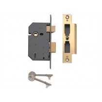 "Yale PM550 5 Lever Mortice Sash Lock - Polished Brass - 67mm (2.5"")"