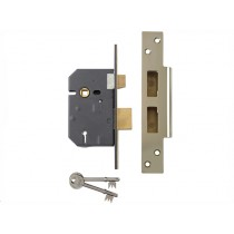 "Yale PM560 Hi-Security BS 5 Lever Mortice Sash Lock - Polish Brass - 67mm (2.5"")"