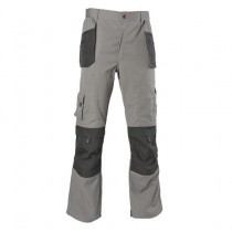 Zephyr ZC102 Multi-Pocket Work Trousers - 38R - Grey