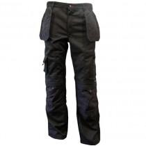 Zephyr ZC103 Multi-Pocket Work Trousers - 40R - Black