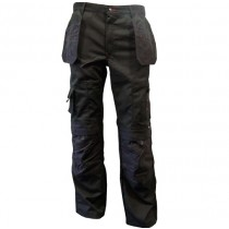 Zephyr ZC103 Multi-Pocket Work Trousers - 32R - Black