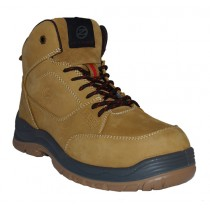 Zephyr ZX73 S1-P Premium Nubuck Honey Safety Work Boot - Size 8