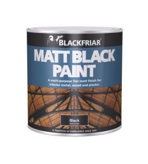 Blackfriar Matt Black Paint - 1L