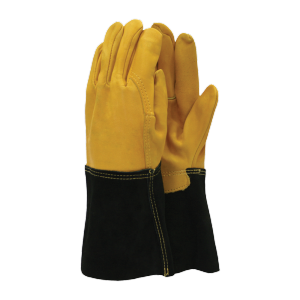 Town & Country Premium Leather Gauntlet Gloves - M